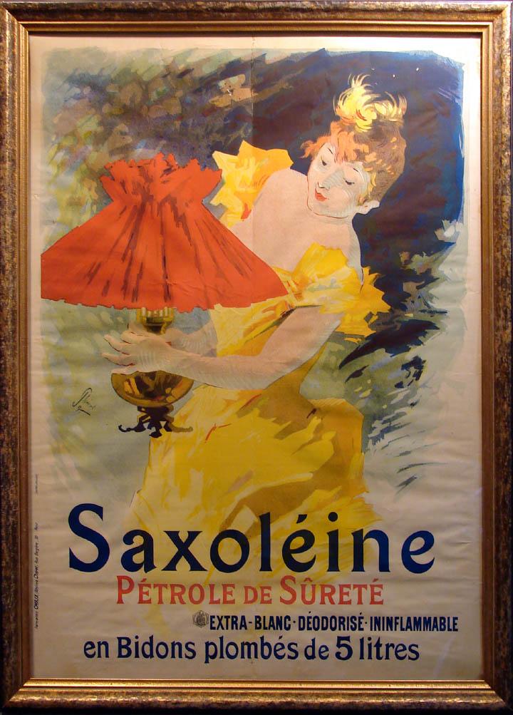 CHERET ORIGINALVintage FRENCH NOUVEAU POSTER Saxoleine Petrole De ...