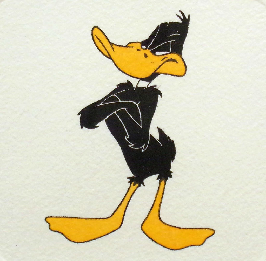 Daffy Duck Hand Tinted Limited Ed Art Etching Looney Tunes Warner