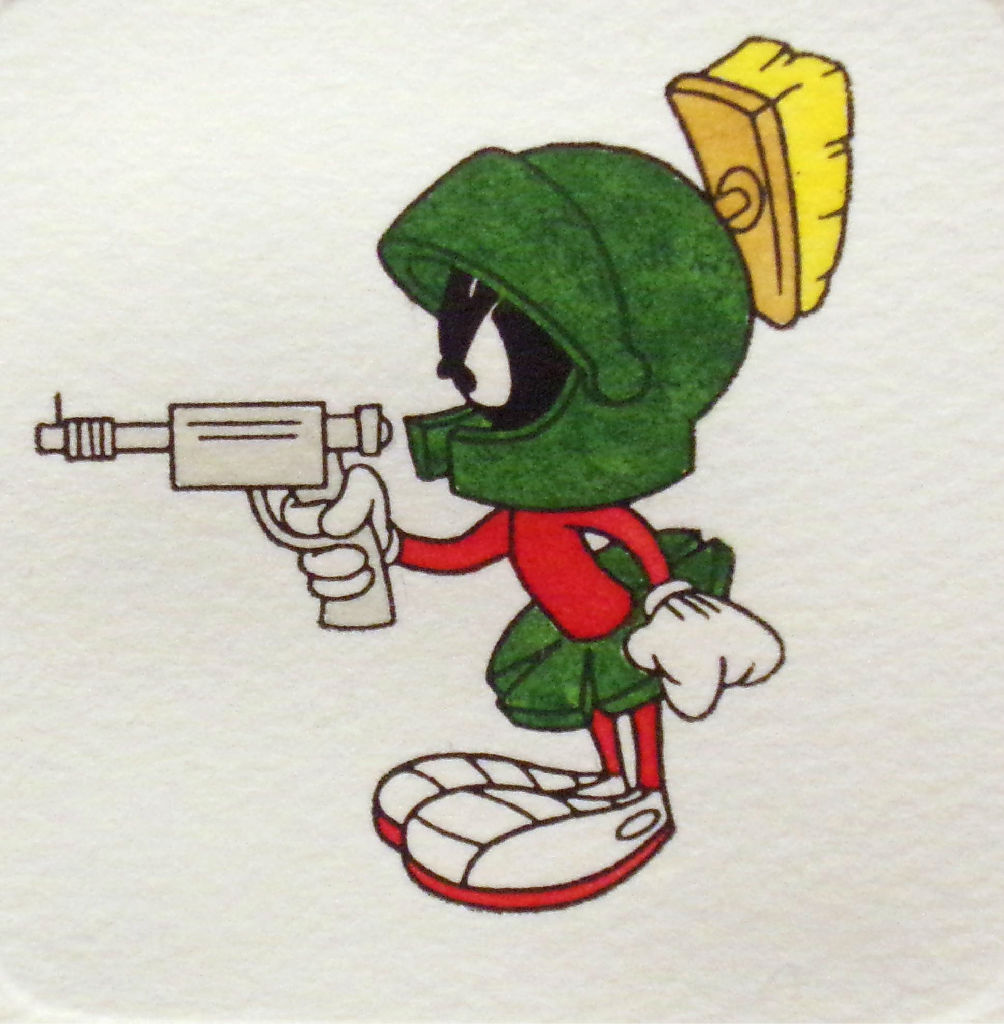 Marvin The Martian With Ray Gun Hand Colored Ltd Ed Art