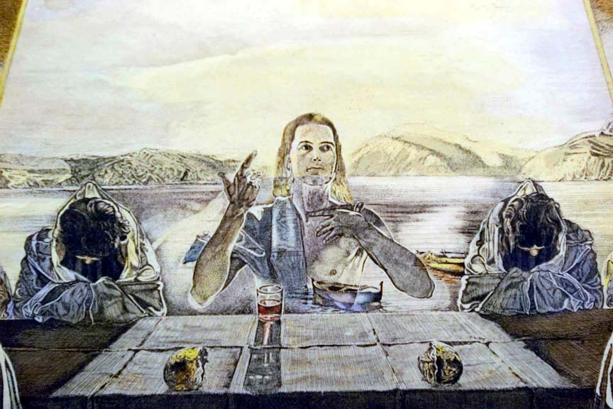 After Attributed To Salvador Dali The Last Supper Etching