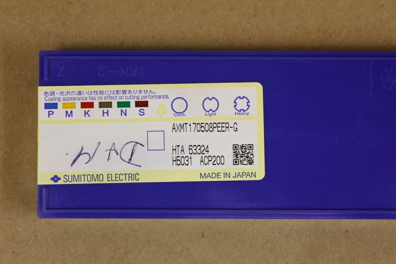 New 10pcs SUMITOMO AXMT170508PEER-G ACP200 carbide inserts