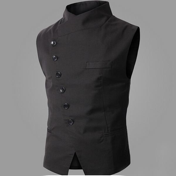 Men's Slim Formal Luxury Wedding Sleeveless Vest Waistcoat ...