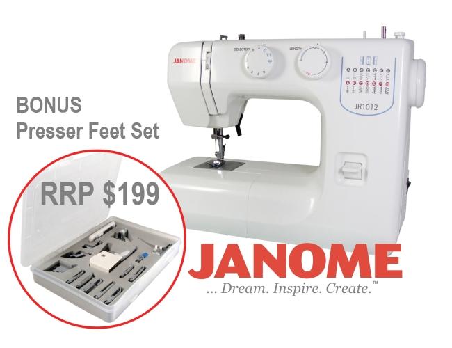 Janome JR40 Sewing Machine Presser Feet Set Walking Foot Easy Interesting Janome Sewing Machine Sale