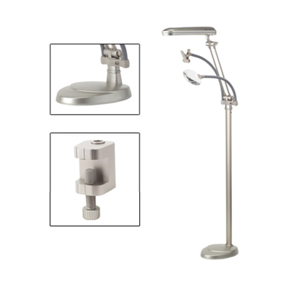 Ott Lite Floor Lamp 3 In 1 With Clamp And Magnifier
