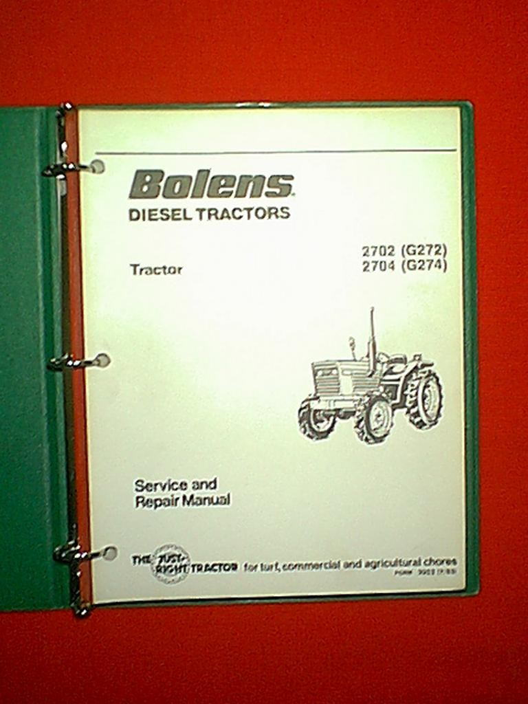 bolens iseki diesel tractor models 2702 g272 2704 g274 service rh m ebay ie