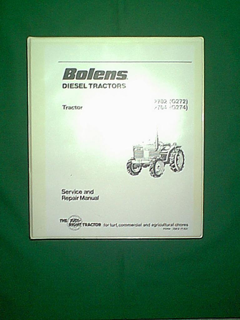 bolens iseki diesel tractor 2702 g272 2704 g274 service rh ebay ie 1990s Bolens G154 Sonny's Bolens Tractor Parts