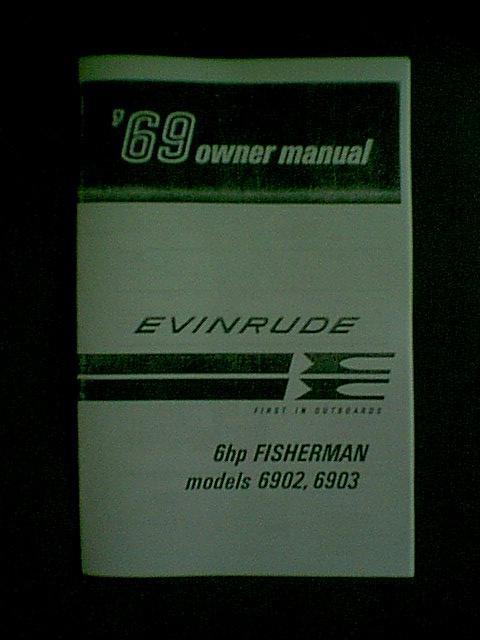 Evinrude 6hp Fisherman owners manual