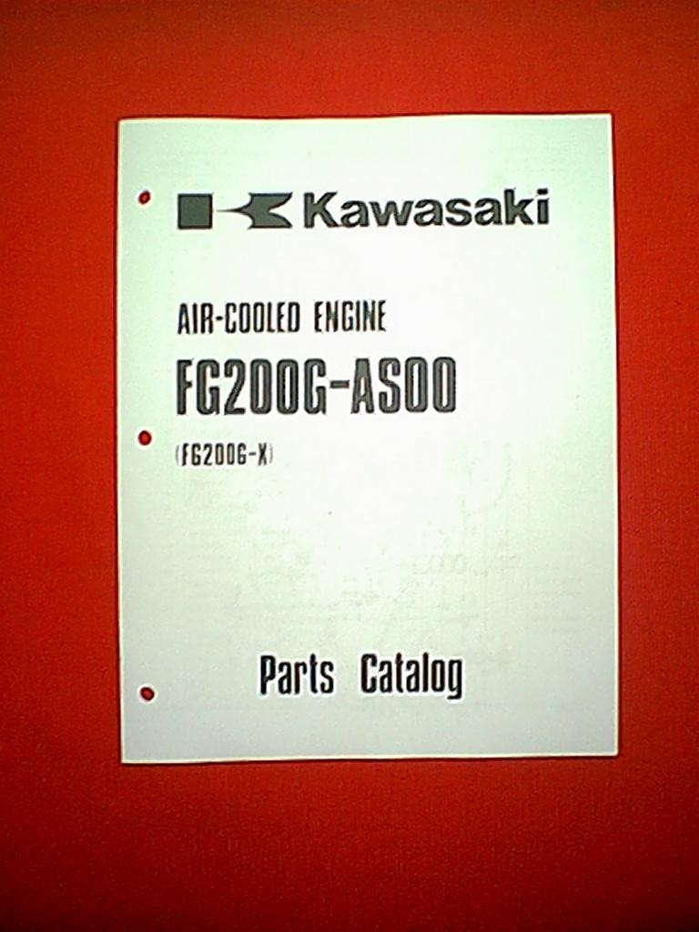KAWASAKI ENGINE MODEL FG200G-AS00 ( FG200G-X ) PARTS MANUAL