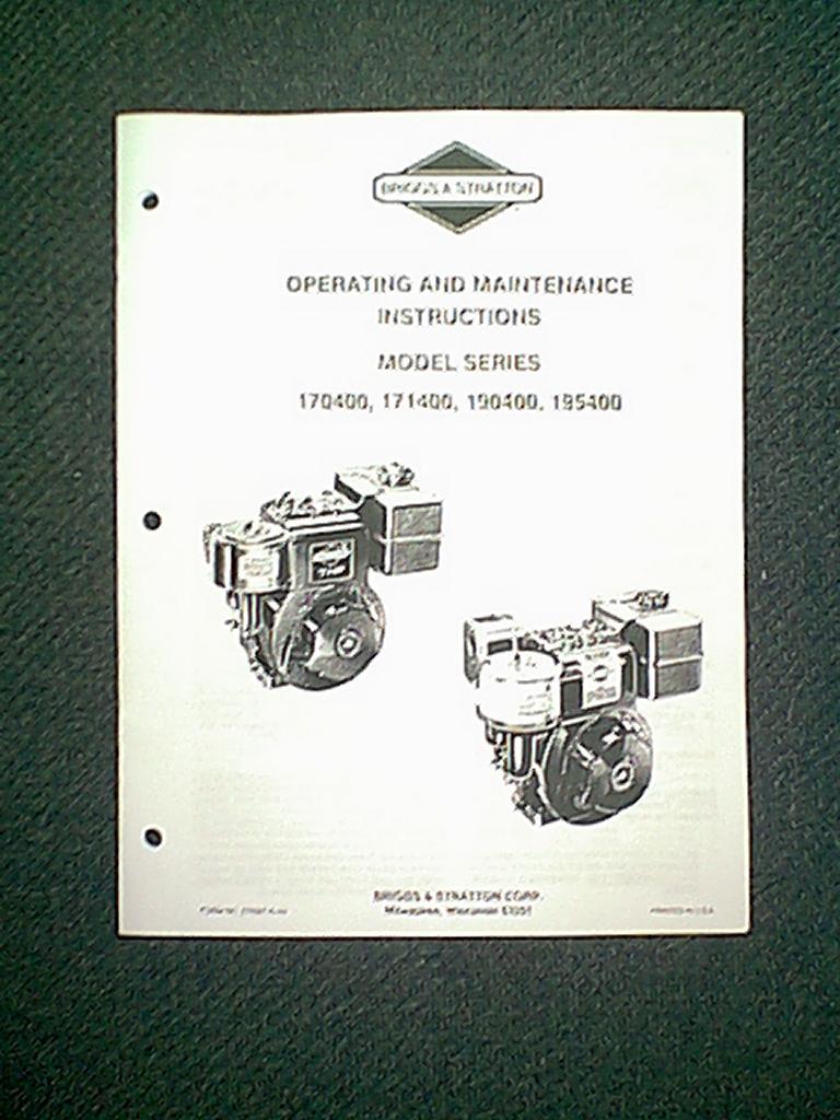 briggs and stratton 16 hp manual