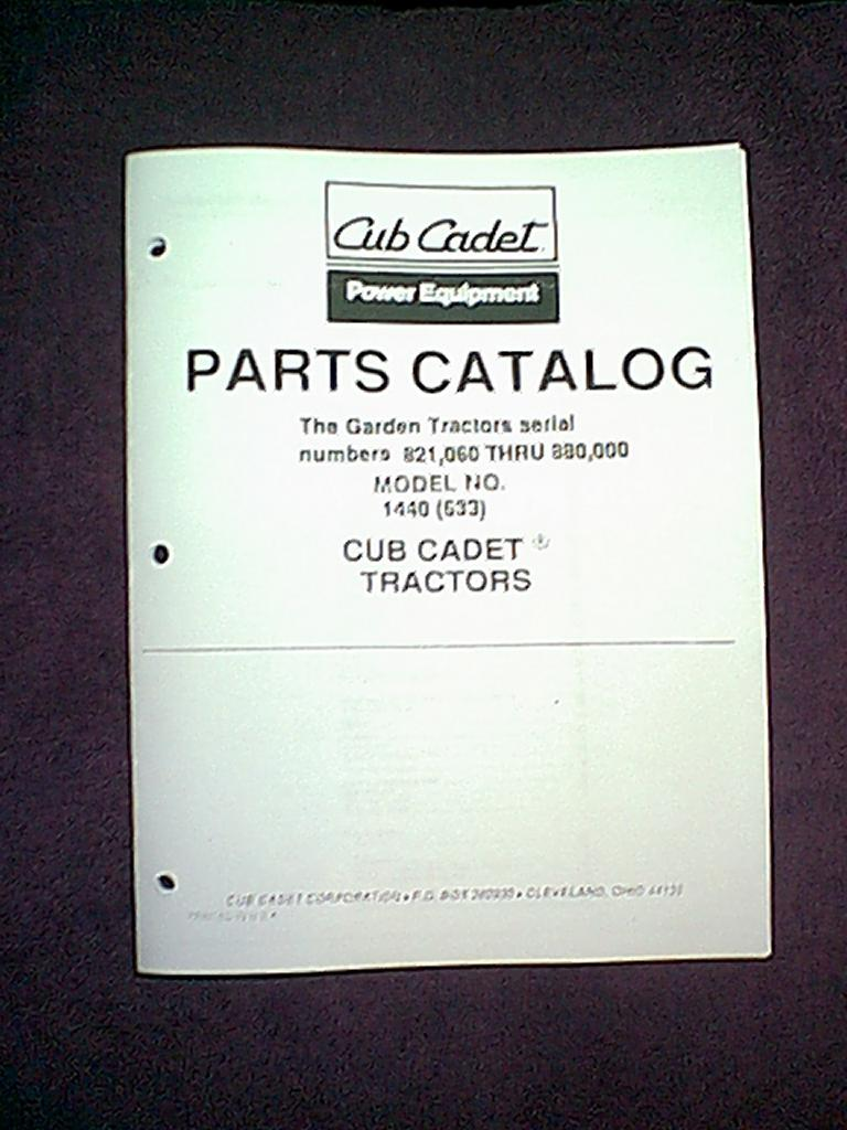 Cub Cadet 1440 Service Diagram Wiring Diagrams Model White Outdoor Lawn Tractor Get Free Rear End