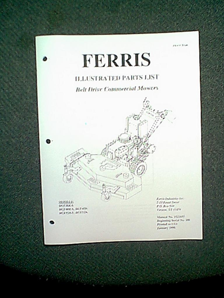 Ferris mower Manual Is 1500z Wheel loader Specs