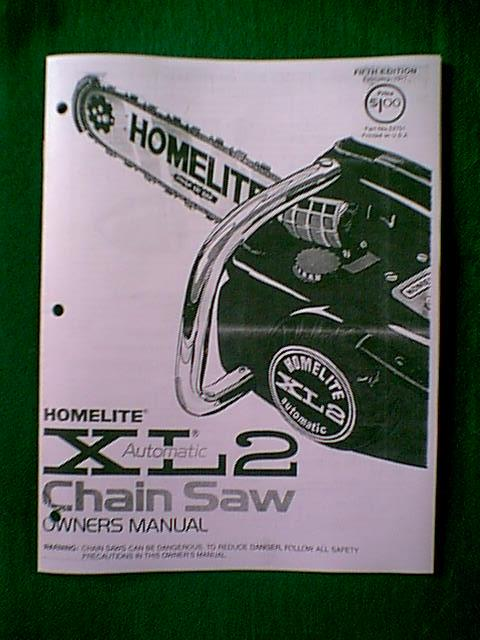 Homelite Xl2 automatic owners Manual Now