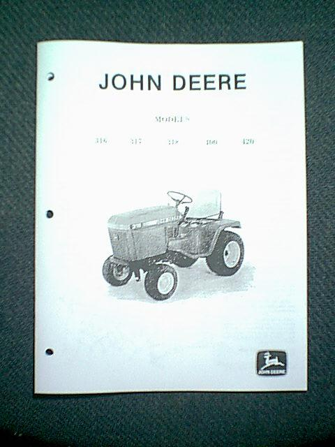 john deere lawn tractor models 316 317 318 400 420 service. Black Bedroom Furniture Sets. Home Design Ideas
