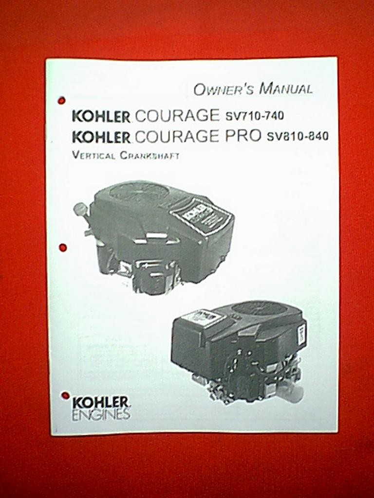 Kohler Courage Sv710 740 Pro Sv810 840 Vertical Crankshaft Engine Parts Diagram Ownners