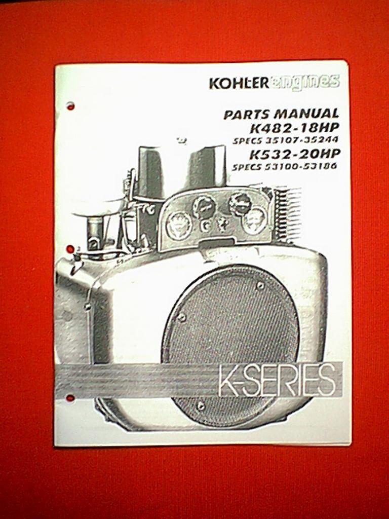 Kohler K Series Engines Models K482 18hp K532 20hp Parts Manual Ebay Engine Diagram