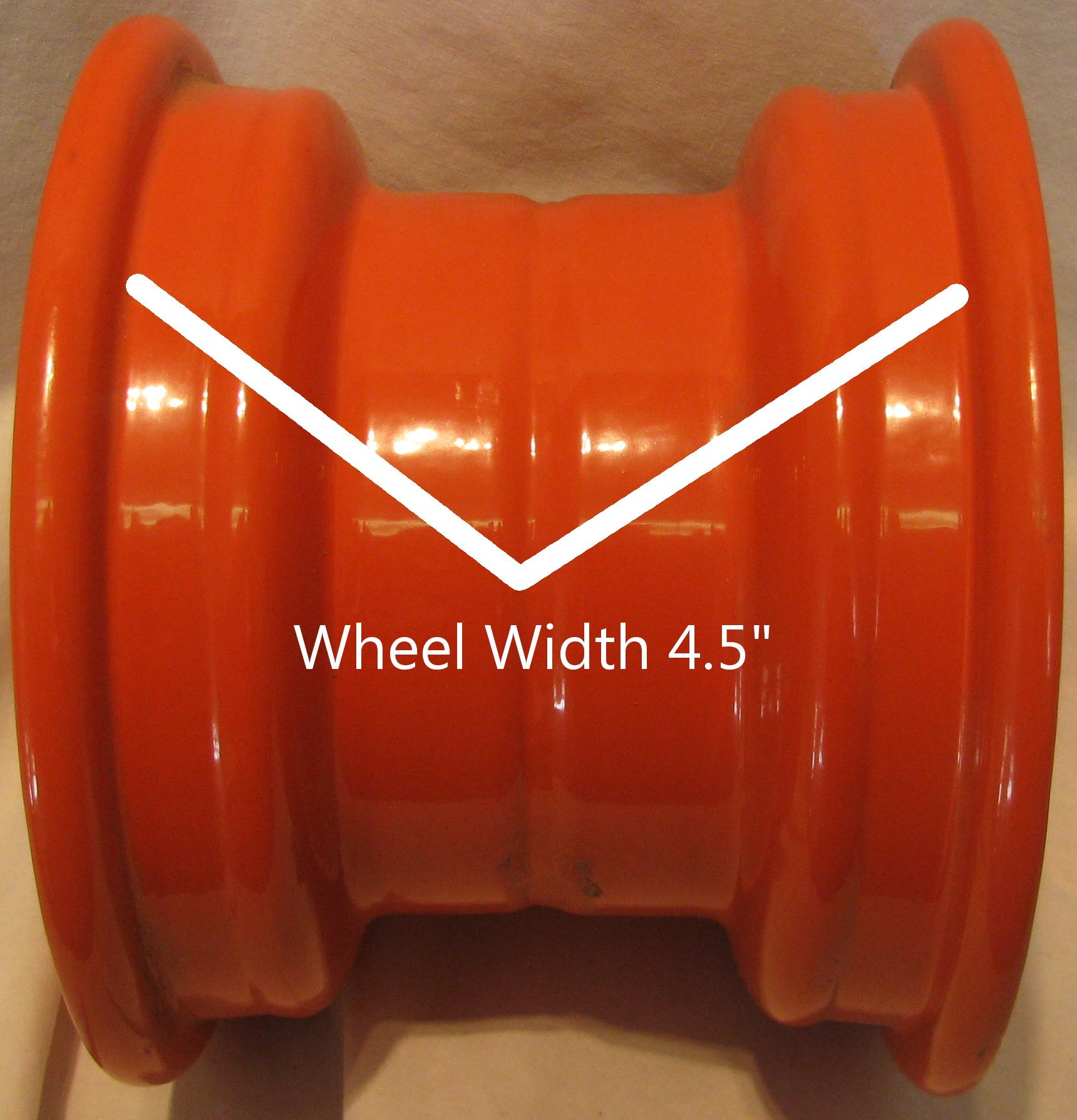 "6"" Rim Wheel Kubota Zero Turn Riding Lawn Mower Garden Tractor Implement 6x4 5"