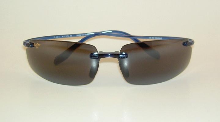 Brand New Authentic Polarized Maui Jim Hurricane Sunglasses Blue Frame 578 03