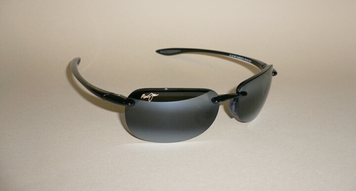 d49886fd0aa Details about NEW Authentic MAUI JIM SANDY BEACH Sunglasses Black Frame 408- 02 Polarized Grey