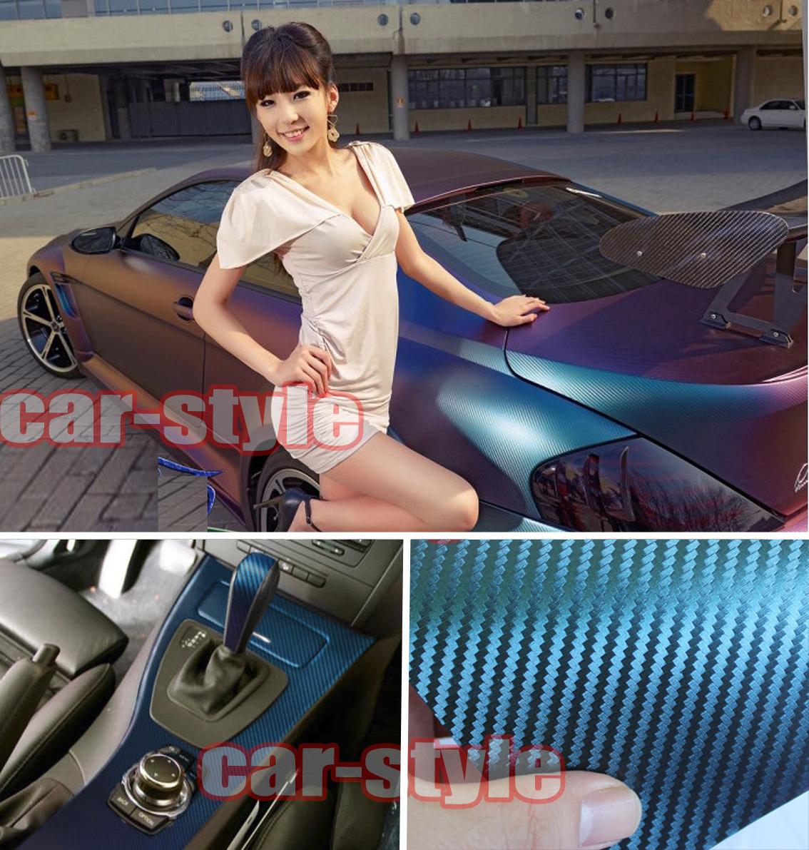 Car 3D Carbon Fiber Vinyl Wrap Sheet Sticker Film Decal AC Select 9 Colors