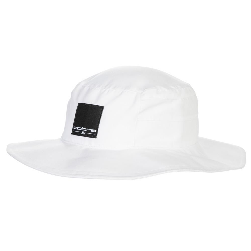 15cb37f2314 Cobra Golf Sun Bucket Hat Cap Wide Brim Fitted White - New 2019