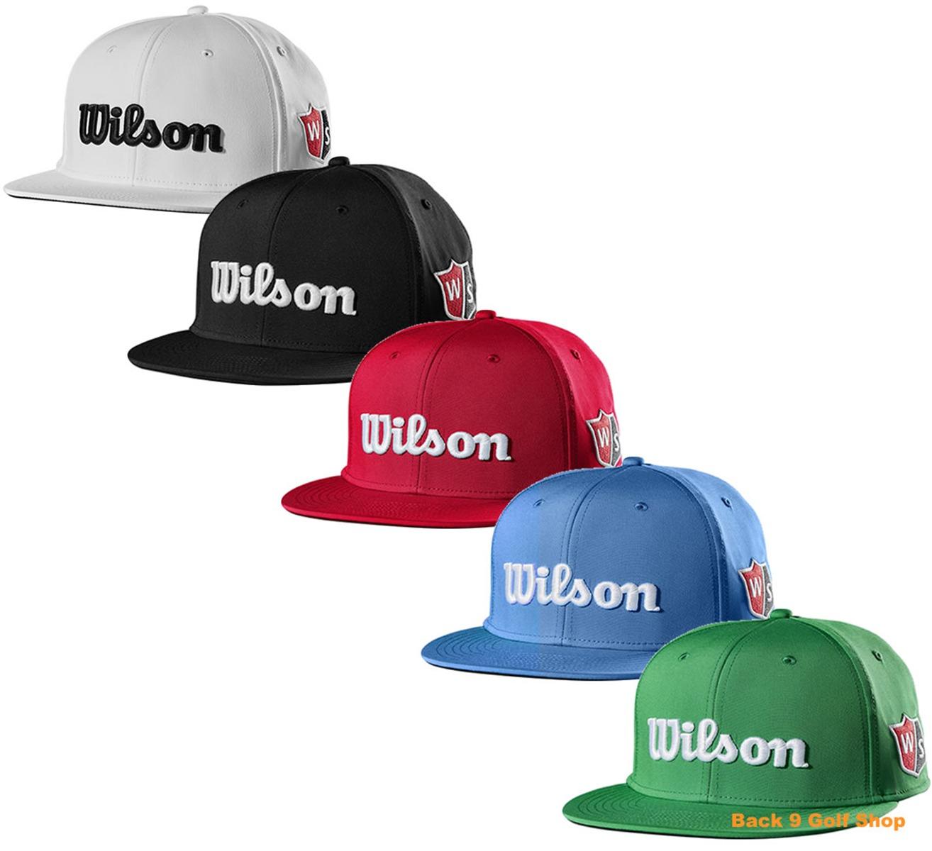 41a5a0ca395 Wilson Staff Flat Brim Golf Hat Adjustable - New 2019