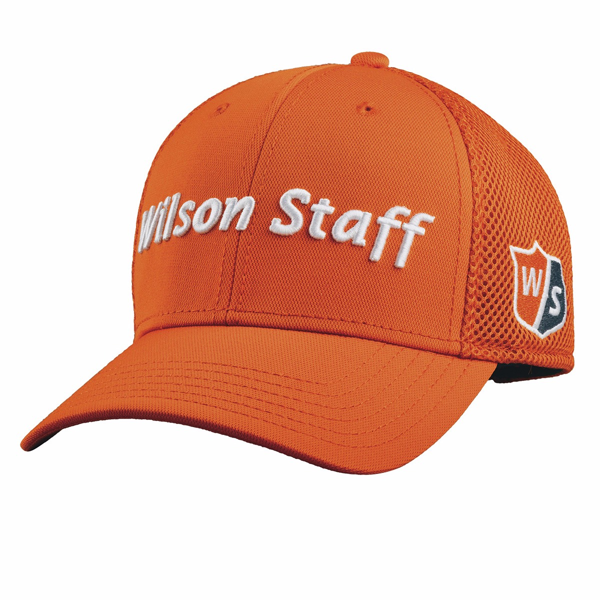 Details about Wilson Staff Tour Mesh Golf Hat Orange Adjustable - New 2018 00c7567dd04