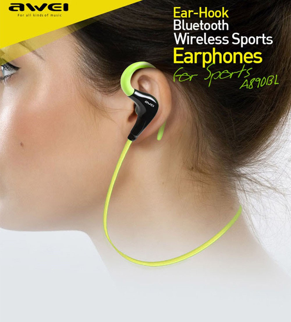 New Awei A890bl Wireless Sports Bluetooth 40 Headset Stereo Sniper Handsfree Sport Black Gold With 6 Hours Of Playing Time And Sweat Proof Design You Can Take It For A Good Work Out Knowing The Will Remain Stable As