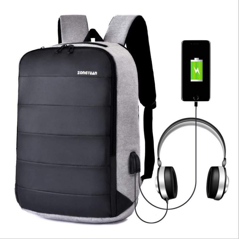Anti-Theft Men Women Travel Backpack USB Charge Laptop School Bag Rucksack M335