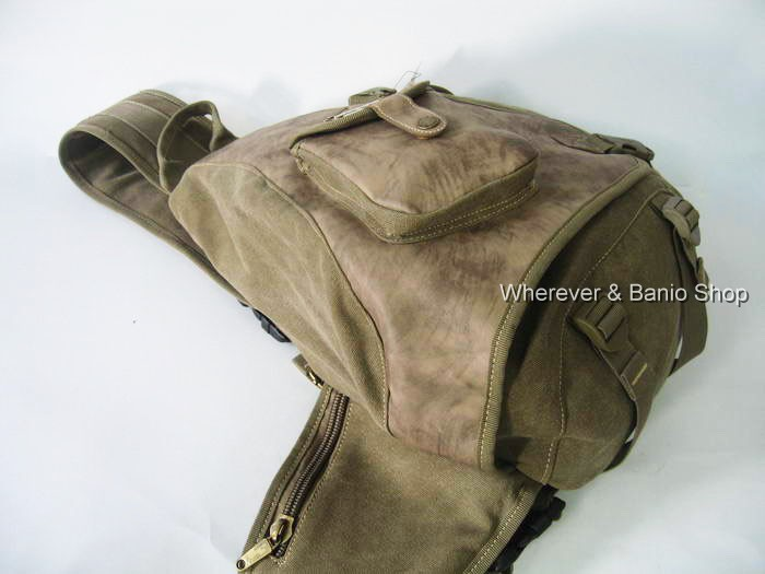 MULTIFUNCTION/_men/'s Canvas Backpack Shoulder bag Military Style M119K durable