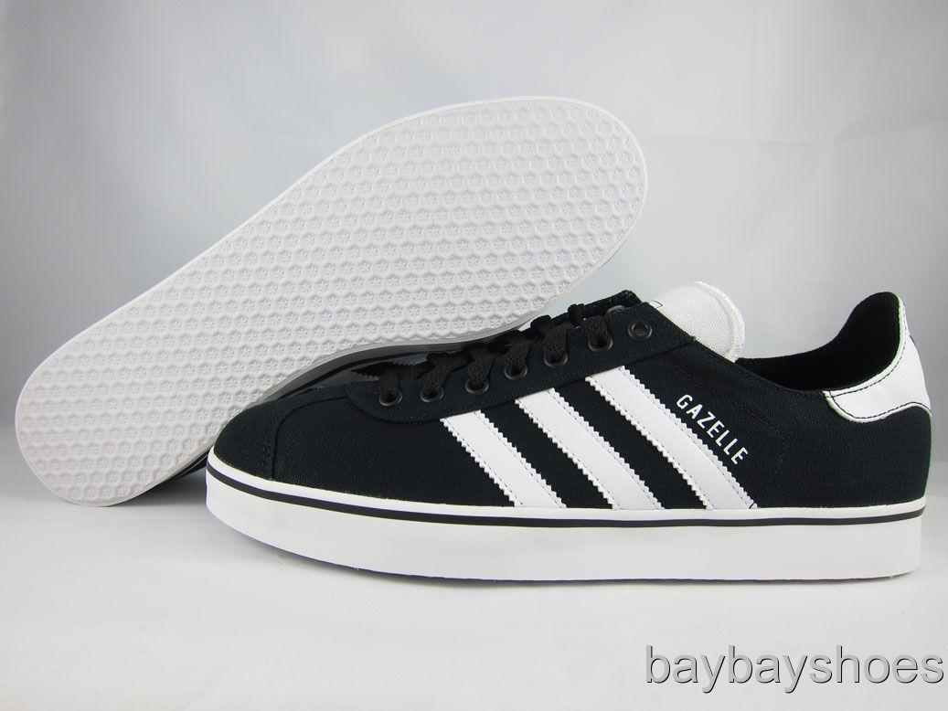 Adidas Gazelle RST Canvas Black White Classic Originals Skate Mens All Sizes