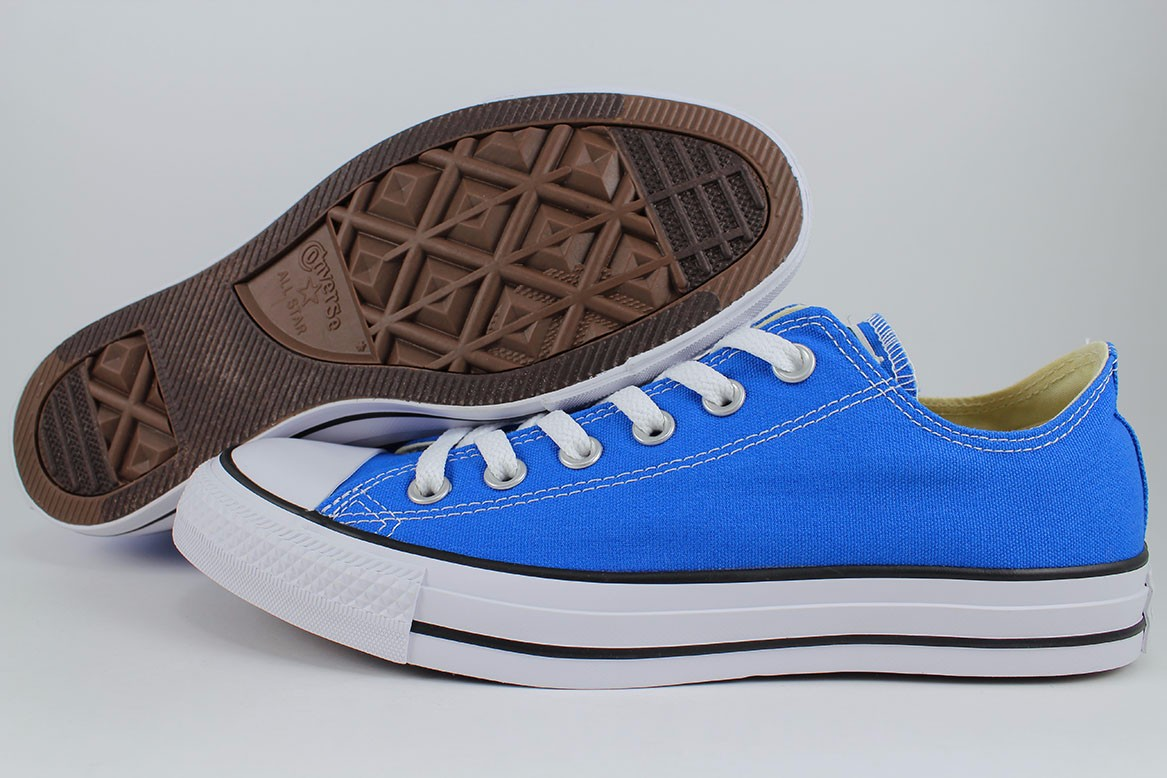 fdbe0576095e13 Details about CONVERSE ALL STAR CHUCK TAYLOR OX SOAR BLUE BLACK WHITE ROYAL  MEN WOMEN SIZES