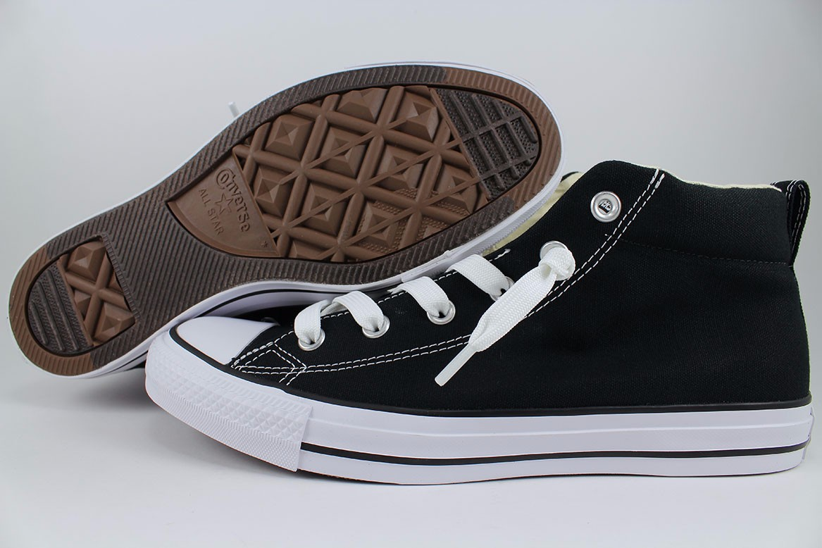 1af2fd0a8ede Details about CONVERSE ALL STAR CHUCK TAYLOR STREET MID BLACK NATURAL WHITE  CANVAS 149545F MEN