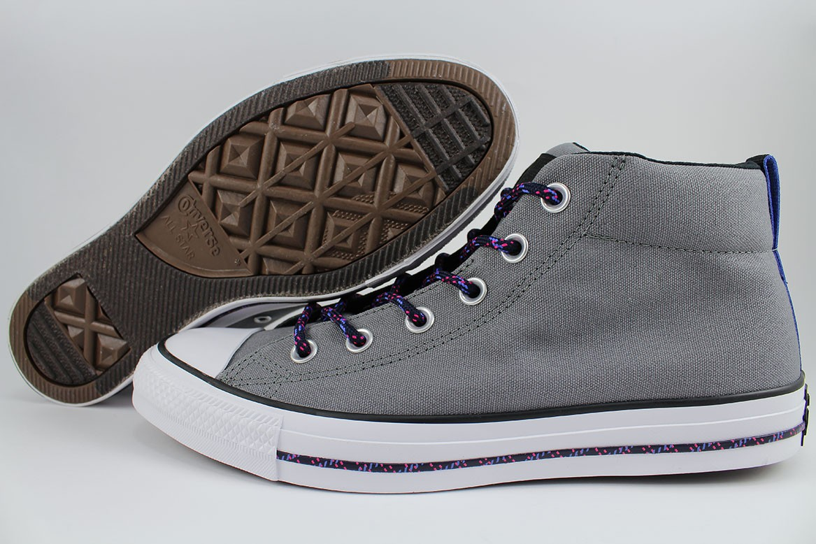 99d20b01c2e059 Details about CONVERSE ALL STAR CHUCK TAYLOR STREET MID MASON GRAY BLACK WHITE BLUE  MEN SIZES