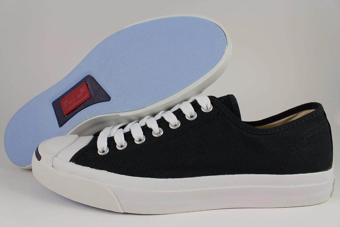 78f2afd82b1f Details about CONVERSE JACK PURCELL CP CANVAS OX LOW BLACK WHITE CLASSIC  1Q699 US MENS SIZES