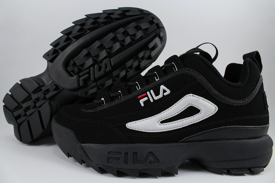 Details about FILA DISRUPTOR II 2 BLACKWHITERED CROSS TRAINING TRAINER AUTHENTIC US MEN SIZE