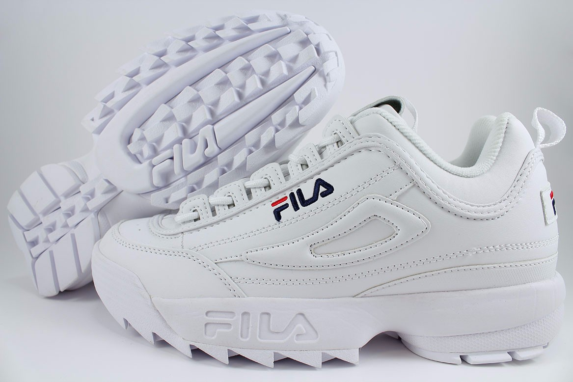 Details about FILA DISRUPTOR II 2 WHITE/PEACOAT BLUE/RED CROSS-TRAINER  AUTHENTIC MEN WOMEN SZ