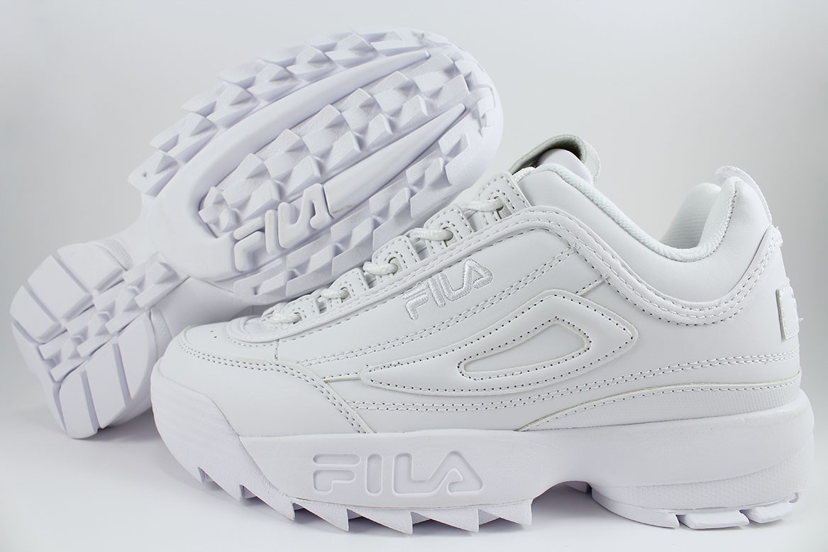 a5eed821e209 FILA DISRUPTOR II 2 TRIPLE WHITE WHITE CROSS-TRAINING TRAINER ...