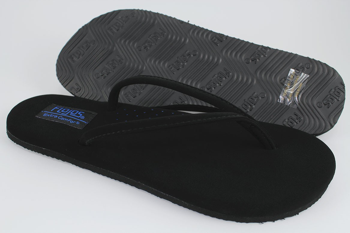 f237f3476c48 Details about FLOJOS FIESTA 2.0 FLAT THONG SANDALS BLACK ARCH SUPPORT FLIP  FLOPS US WOMEN SIZE