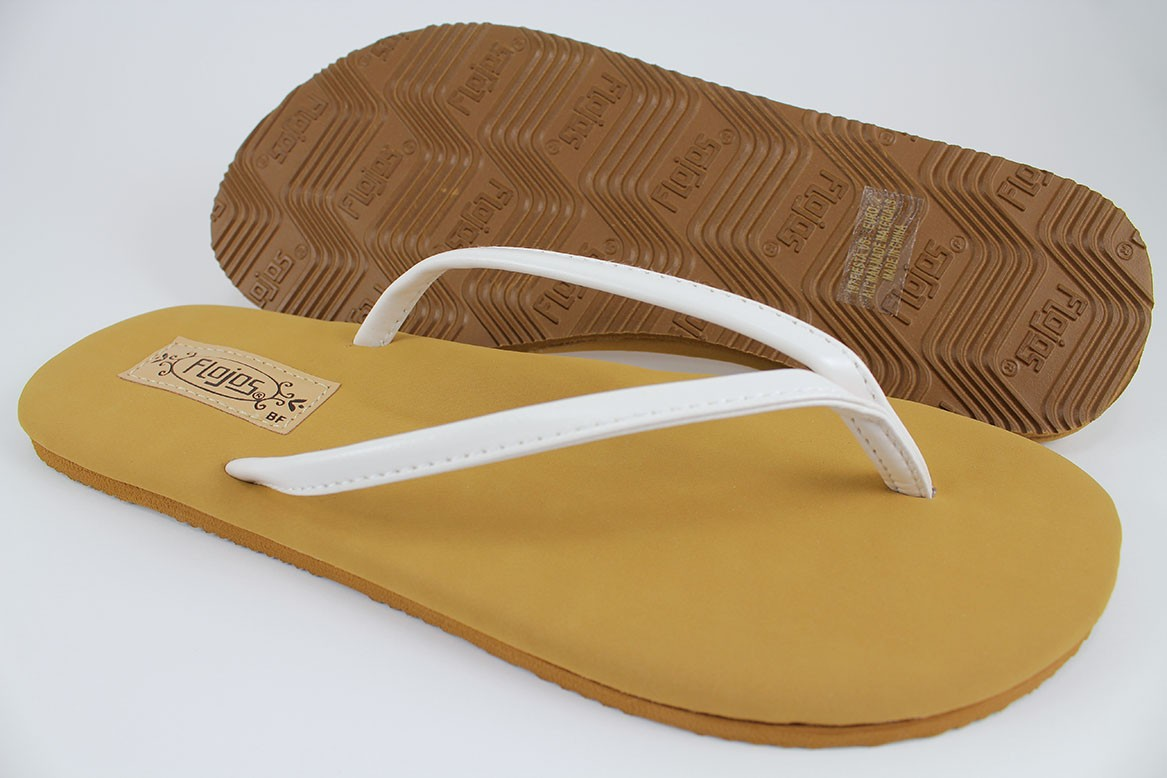 693752a402f4 Details about FLOJOS FIESTA FLAT THONG SANDALS WHITE TAN ARCH SUPPORT FLIP  FLOPS US WOMEN SIZE