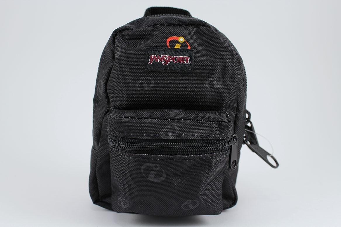 7b81208dc362 Details about JANSPORT LIL BREAK INCREDIBLES ICON BLACK GRAY MINI BACKPACK  BAG POUCH ORGANIZER