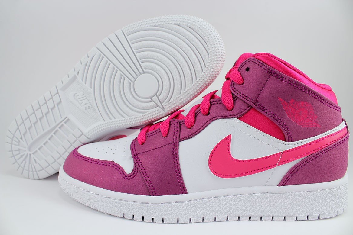 cheap for discount b864d 87185 Details about NIKE AIR JORDAN 1 MID BERRY PURPLE/PINK VALENTINES RETRO HIGH  WOMEN GIRLS YOUTH