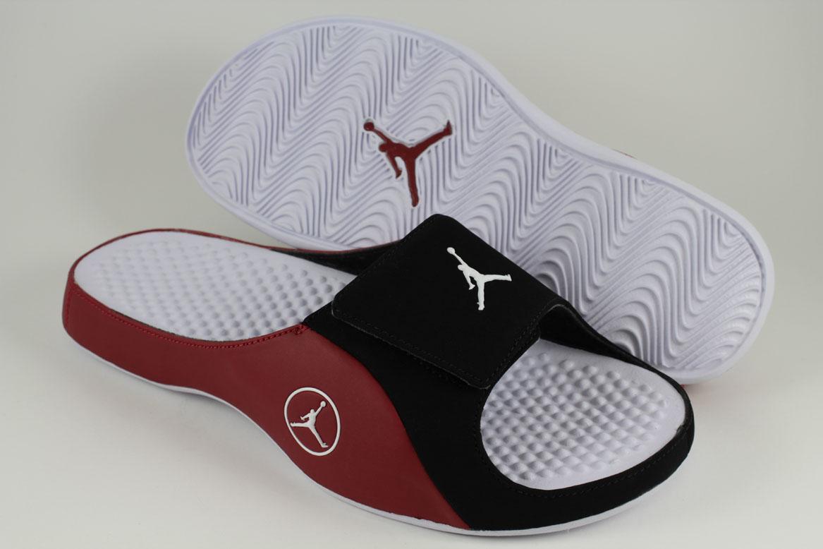 b16732d75dc Nike Jordan Alpha Float Black White Gym Red Velcro Strap Sport Sandals