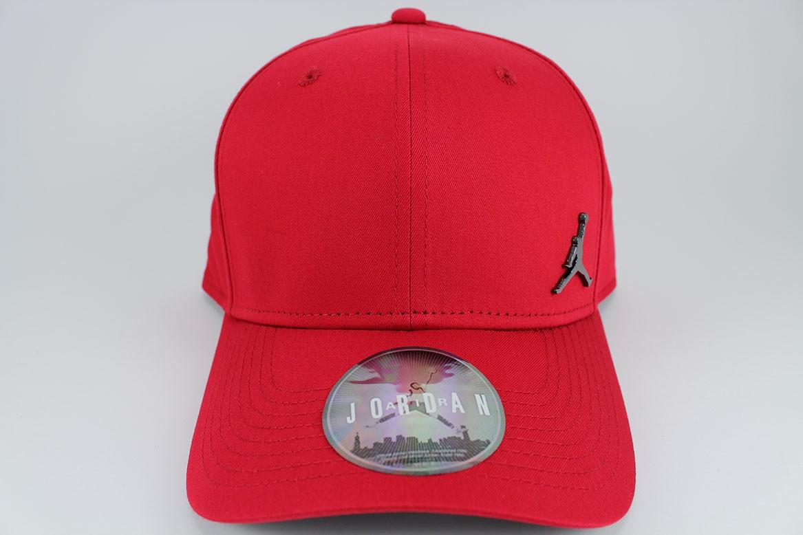 bb4d8cbd429 JORDAN CLASSIC 99 METAL JUMPMAN ADJUSTABLE CAP HAT RED/BLACK ...