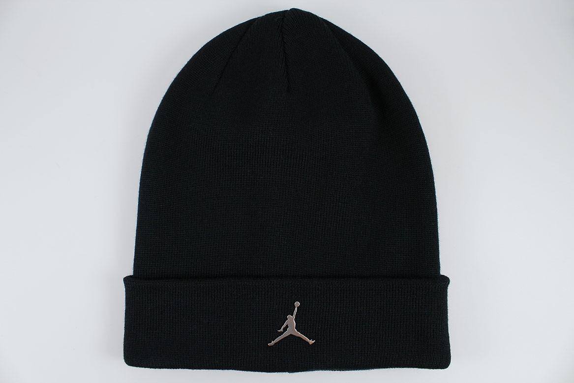 08684562b98 Details about NIKE JORDAN BEANIE BLACK SILVER METAL JUMPMAN DRI-FIT CUFF HAT  CAP ADULT MEN NEW
