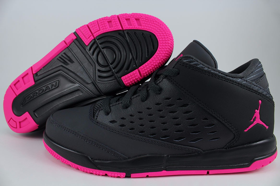NIKE AIR JORDAN FLIGHT ORIGIN 4 DARK GRAY/DEADLY PINK/BLACK GIRLS KIDS YOUTH