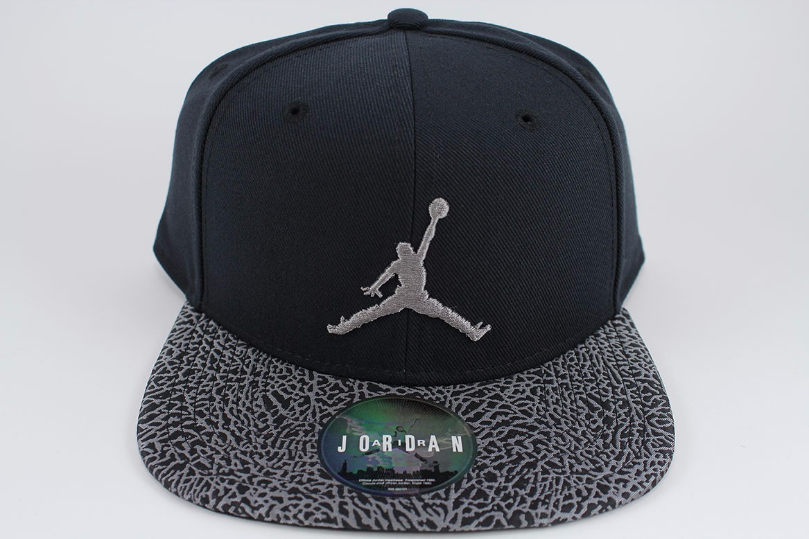 d2ef2e5601adab ... uk nike jordan jumpman elephant bill snapback cap hat black dust gray  ff3f7 43847