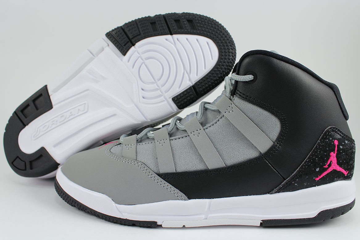 06fde5a5264a94 Details about NIKE AIR JORDAN MAX AURA GRAY PINK BLACK WHITE RETRO 10 11  GIRLS KIDS YOUTH SIZE