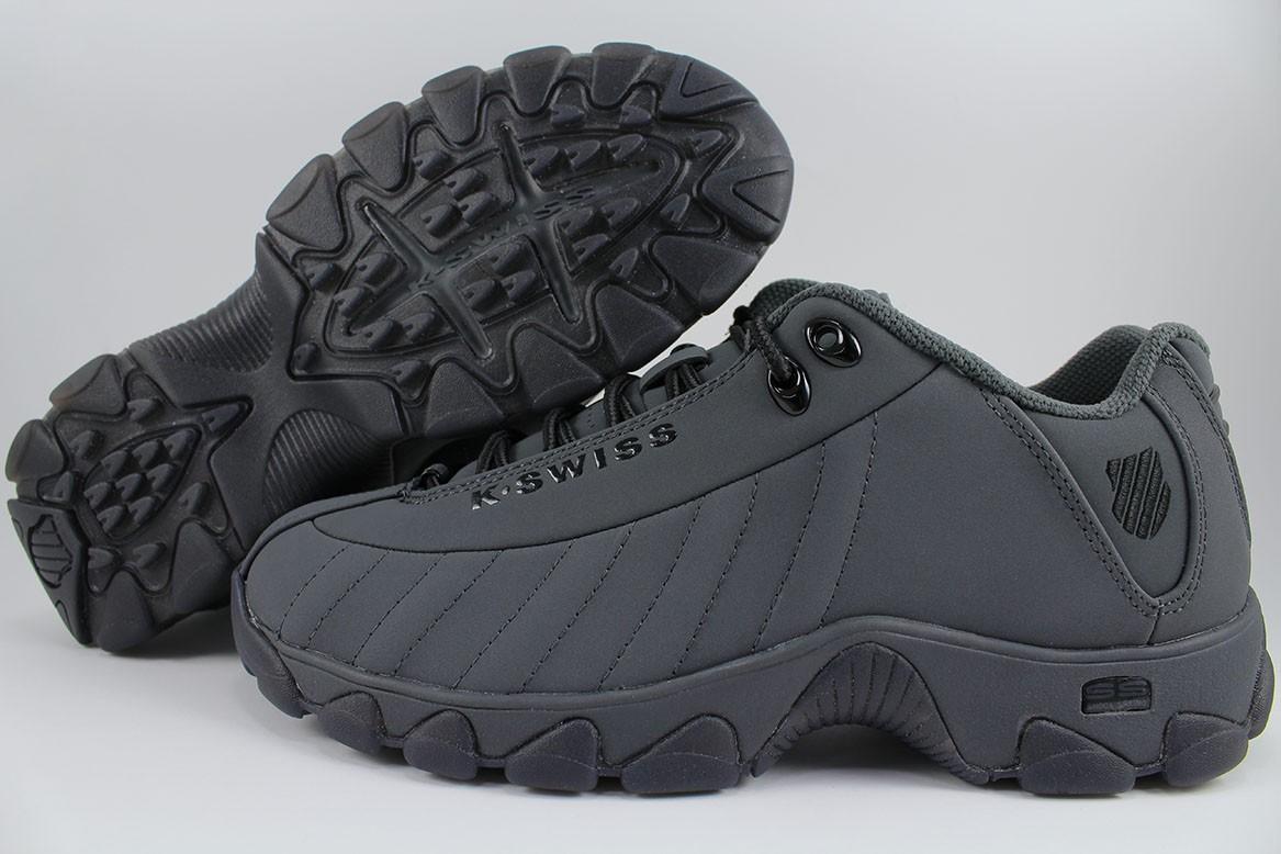 53c587d559bd6a Brand, K-Swiss. Style Name, ST329 CMF SB (Comfort Memory Foam). Style #,  06181-096-M. Colorway, Dark Shadow (Gray)/Ice/Black