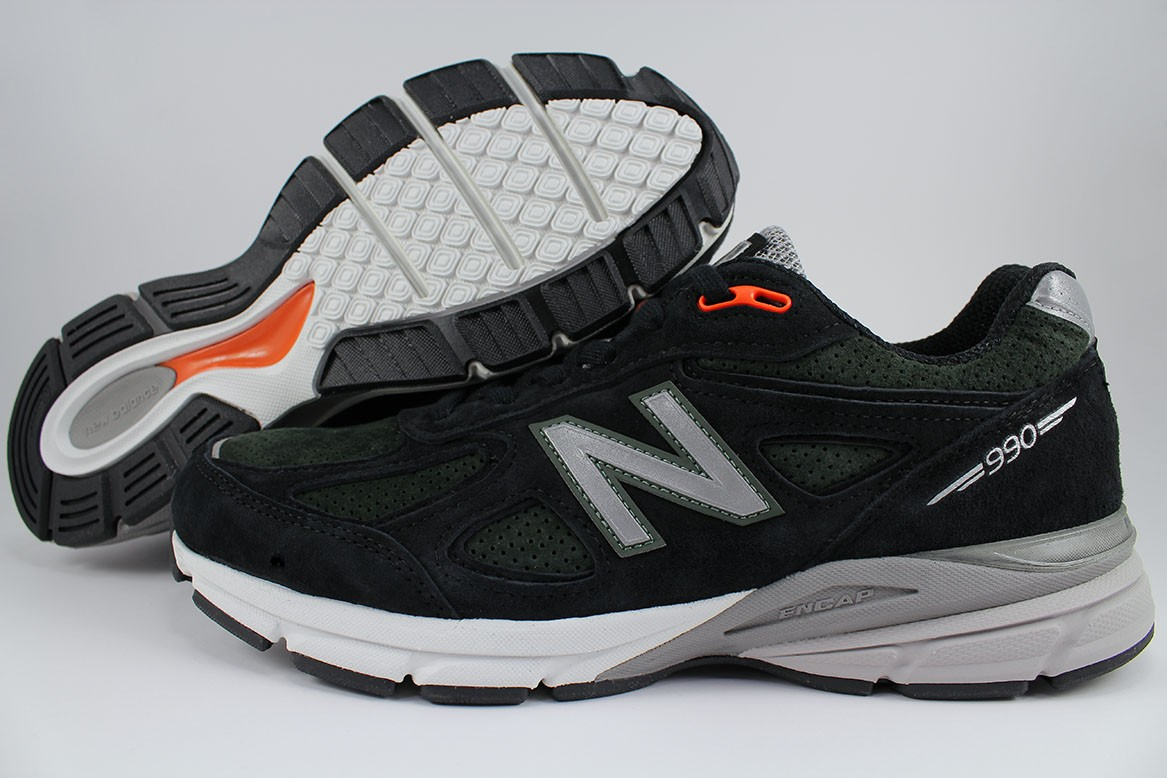 best website 365c7 85979 Details about NEW BALANCE 990 V4 BLACK ROSIN GREEN SILVER GRAY MADE IN USA  RUNNING M990MB4 MEN