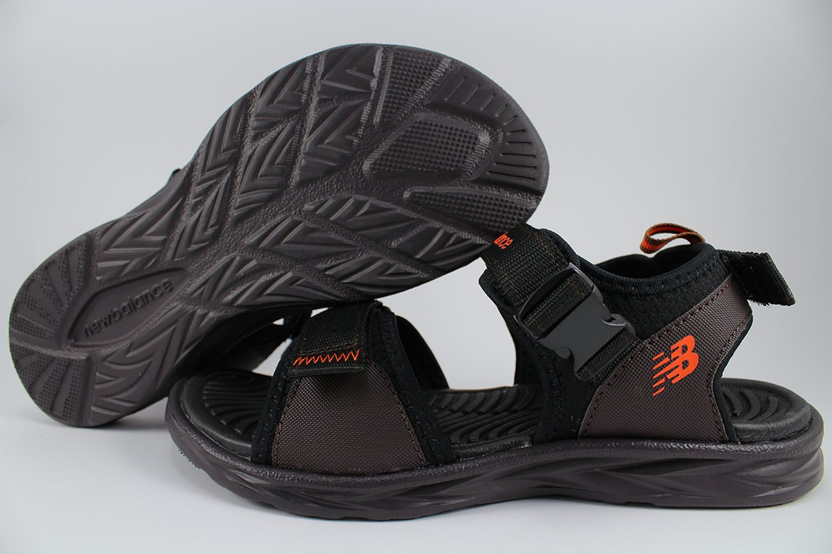 9e72e33f2ebb NEW BALANCE RESPONSE SANDAL EXTRA WIDE 4E BROWN BLACK ORANGE ADJUST ...
